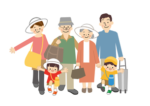 家族旅行のイラスト素材 [FYI01665453]