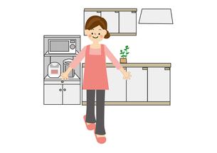 家事 キッチンのイラスト素材 [FYI01665455]