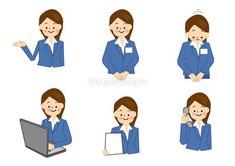 OL 受付 事務 女性のイラスト素材 [FYI01665483]