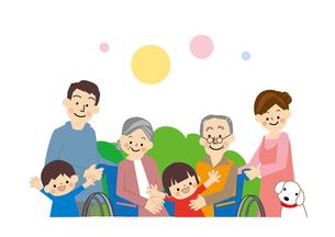 介護高齢者家族のイラスト素材 [FYI01665490]
