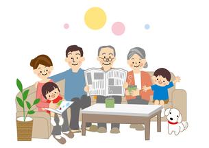 家族団欒のイラスト素材 [FYI01665492]