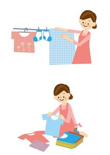 家事 洗濯のイラスト素材 [FYI01665493]