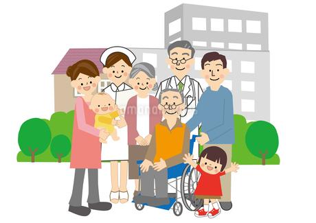 介護高齢者のイラスト素材 [FYI01665499]