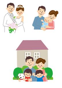 結婚 出産 マイホームのイラスト素材 [FYI01665507]
