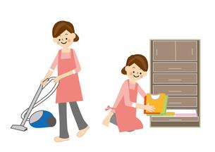 家事 掃除 片づけのイラスト素材 [FYI01665509]