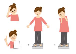 ダイエット 体重計 女性のイラスト素材 [FYI01665521]