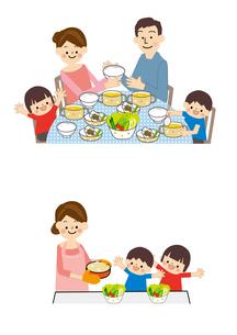 食事 家族のイラスト素材 [FYI01665526]