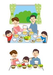 食事 家族のイラスト素材 [FYI01665533]