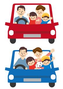 家族 ドライブ 車のイラスト素材 [FYI01665542]