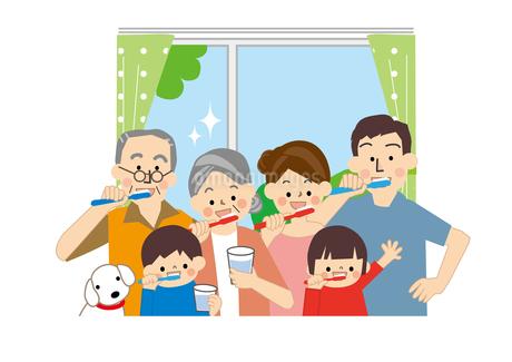 家族 歯みがきのイラスト素材 [FYI01665544]