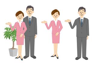 ビジネス 男性 女性 OL 事務のイラスト素材 [FYI01665574]