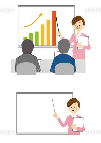 ビジネス 会議 プレゼン 女性のイラスト素材 [FYI01665575]