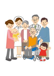 介護家族のイラスト素材 [FYI01665577]