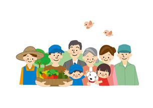 農業 男性と女性 生産者と消費者のイラスト素材 [FYI01665589]