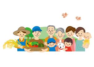 農業 男性と女性 食の安全のイラスト素材 [FYI01665610]