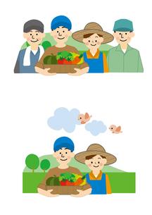 農業 男性と女性のイラスト素材 [FYI01665625]