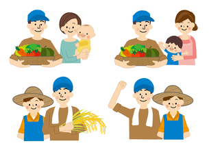 農業 男性と女性 食の安全のイラスト素材 [FYI01665637]