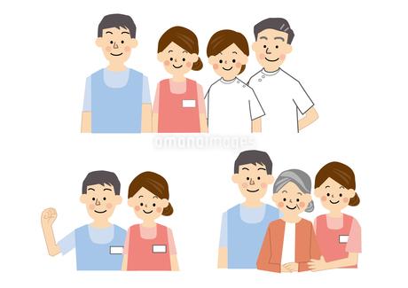 介護福祉 老人保健施設 男性 女性のイラスト素材 [FYI01665648]