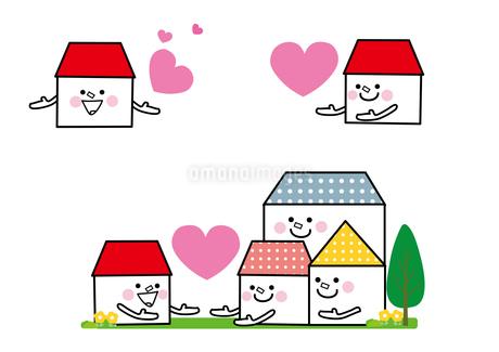家の家族 助け合いのイラスト素材 [FYI01665657]