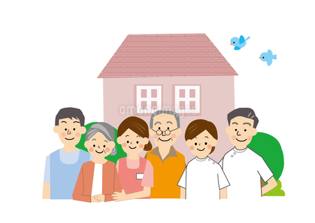 在宅介護 医療福祉 高齢者 のイラスト素材 [FYI01665690]