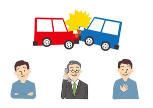 車と事故 自動車保険のイラスト素材 [FYI01665698]
