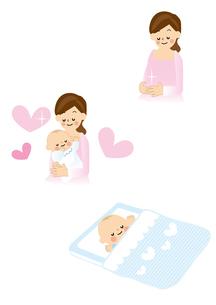 妊婦・出産・赤ちゃんのイラスト素材 [FYI01665705]