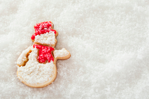 雪だるまのアイシングクッキーの写真素材 [FYI01666138]