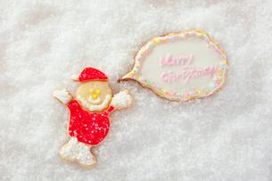 サンタクロースのアイシングクッキーの写真素材 [FYI01666139]
