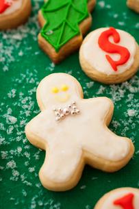 ジンジャーブレッドボーイのアイシングクッキーの写真素材 [FYI01666154]