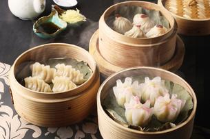 上海風小籠包集合の写真素材 [FYI01667085]