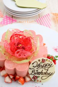 バースデー苺ケーキの写真素材 [FYI01667167]
