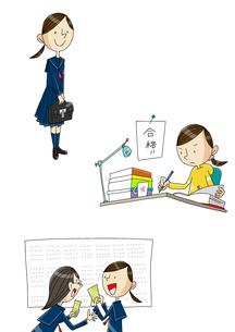 女性の一生 学生時代のイラスト素材 [FYI01667286]