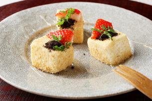 蜂蜜レアチーズケーキの写真素材 [FYI01667435]