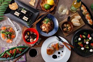 エスニック料理の集合イメージの写真素材 [FYI01667663]