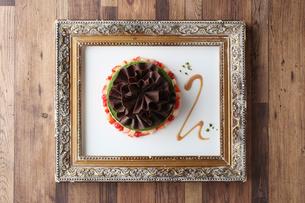 抹茶のホールケーキの写真素材 [FYI01667709]