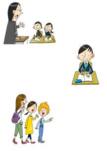 中高生の授業 英語学習と留学のイラスト素材 [FYI01667928]