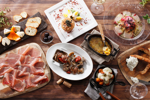 イタリアン前菜の集合イメージの写真素材 [FYI01667963]