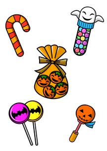 ハロウィンのお菓子のイラスト素材 [FYI01667979]