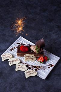 お祝いケーキの写真素材 [FYI01668096]