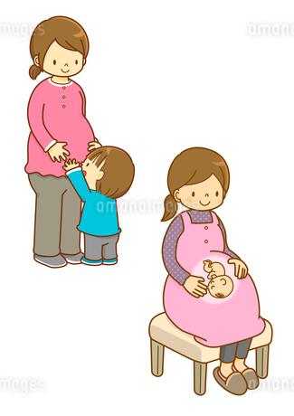 マタニティの女性と子供のイラスト素材 [FYI01668225]