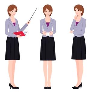 働く女性のイラスト素材 [FYI01668313]
