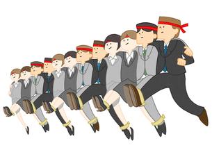 12人13脚をする会社員のイラスト素材 [FYI01668322]