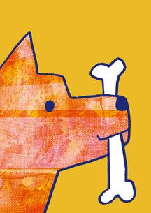 ほねをくわえた犬のイラスト素材 [FYI01668341]