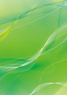 グリーンの背景と緩やかな白ラインのイラスト素材 [FYI01668374]