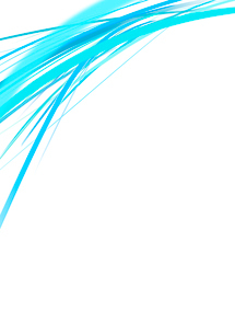 白背景の空間に浮かぶカラフルな水色のラインのイラスト素材 [FYI01668393]