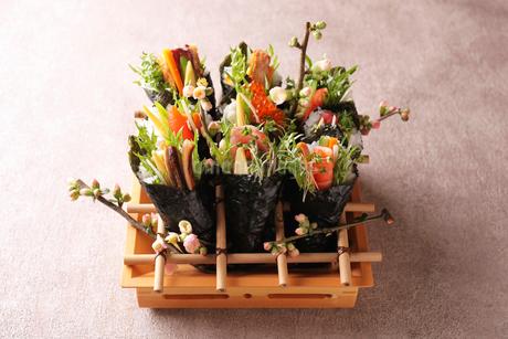 手巻き寿司の写真素材 [FYI01668428]