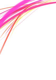 白背景の空間に浮かぶカラフルなピンク系のラインのイラスト素材 [FYI01668511]