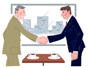握手するビジネスマンのイラスト素材 [FYI01668604]