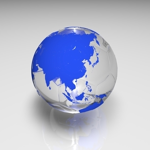 サッカーボールの地球 青のイラスト素材 [FYI01668889]