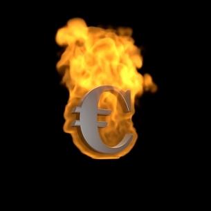 燃えるユーロのイラスト素材 [FYI01669151]